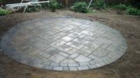 Circle Patio - Techo Bloc Blue 60mm in Champlain Gray with ...