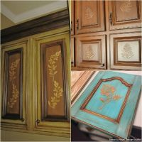 20 DIY Cabinet Door Makeovers with Furniture Stencils ...