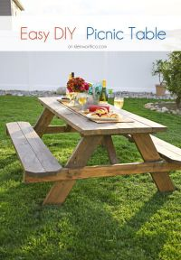 Easy DIY Picnic Table   DIY/ Crafts/ Projects   Pinterest ...