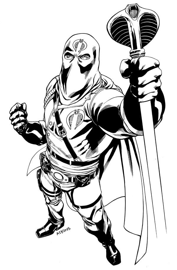 cobra commander coloring pages  coloring pages