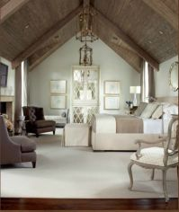 Beautiful cathedral ceilings in this spacious master