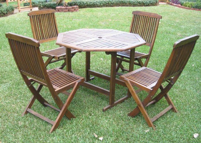 International caravan hamilton outdoor wood patio dining set also