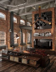 Festim toshi added new photos to the album loft design also cool art highlights essence of an industrial space decoration rh pinterest