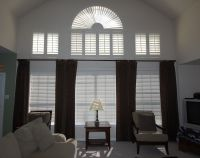 drape ideas tall windows | ... window with a rod placed ...