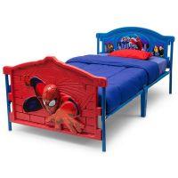 Boys 3D Spiderman Twin Bed Frame Kids Girls Bedroom ...