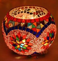 MOSAIC CANDLE HOLDER | Mosaic Candle Holders | Pinterest ...
