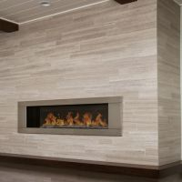 limestone tile fireplace surround - Google Search | Home ...