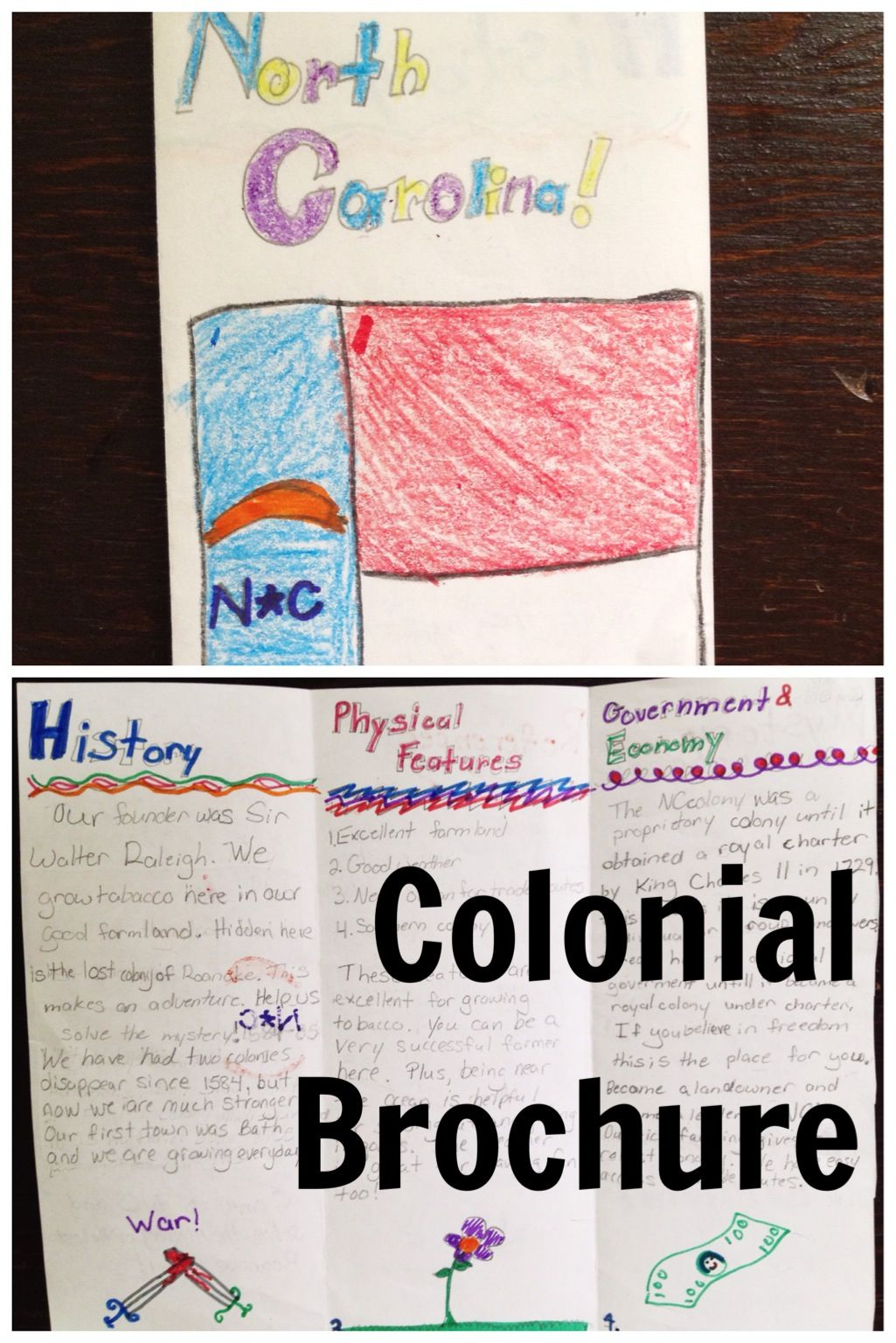 Colonial Brochure Project 5th Grade Pinterest