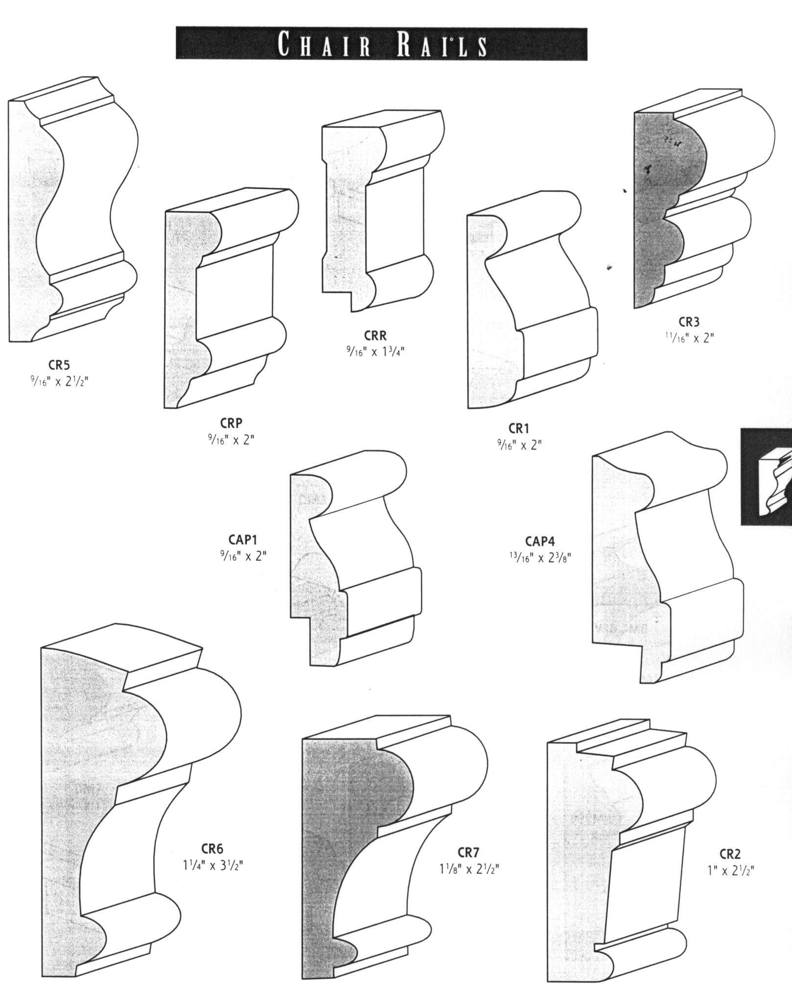 chair rail molding profiles fisher price space saver different types of home decor pinterest