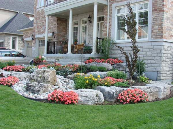 Front Yard Landscaping Ideas Rocks Front Yard Landscaping And