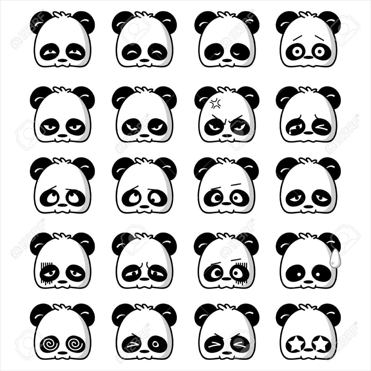 Cute And Cool Pandas Cartoon