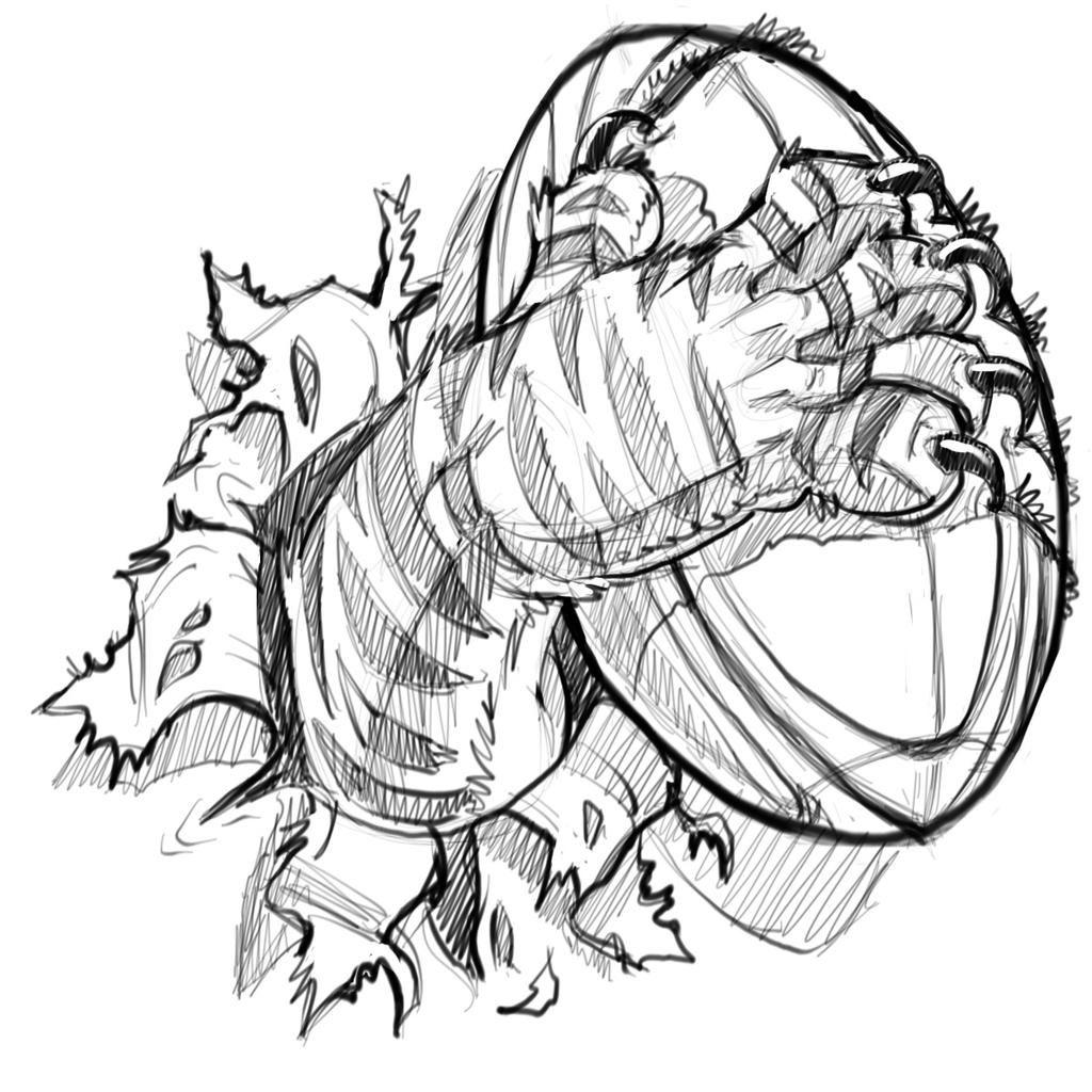 New #sketch: #rugby #tiger #cartoon #illustration #mascot