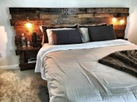 Custom King Size Headboard with built in lights and ...