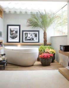Home interior modern tropical bathroom design ideas house bathrooms with summer style decorations resourcedir also  rh pinterest
