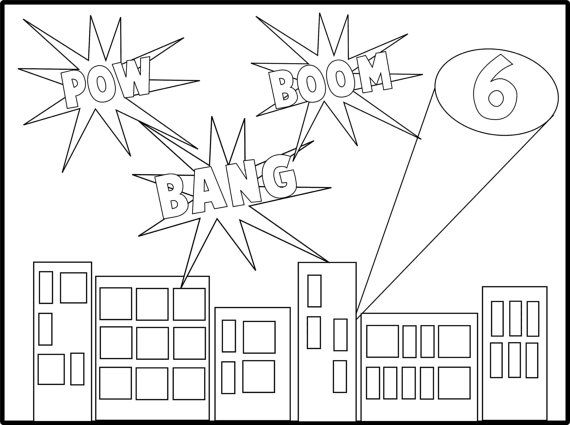 Super Hero Coloring Sheet. Print it out and have it on the