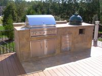 outdoor kitchen designs with charcoal grill Outdoor ...