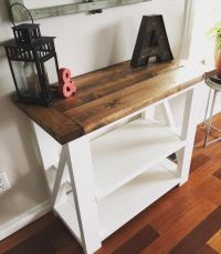 Rustic Home Decor | Ana White | Entry Way | Console Table ...