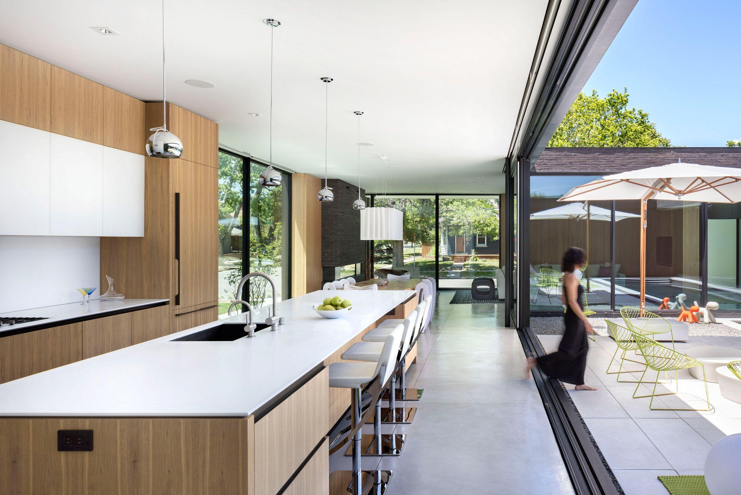 Best Kitchen Gallery: Studio B Creates Rectangular Brick Home For Historic Denver of Modern Denver Homes  on rachelxblog.com
