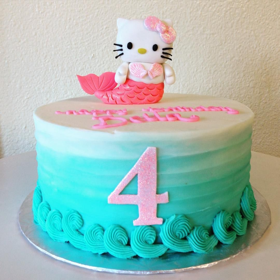 Hello Kitty Mermaid Cake Stuffedcakes Customcake