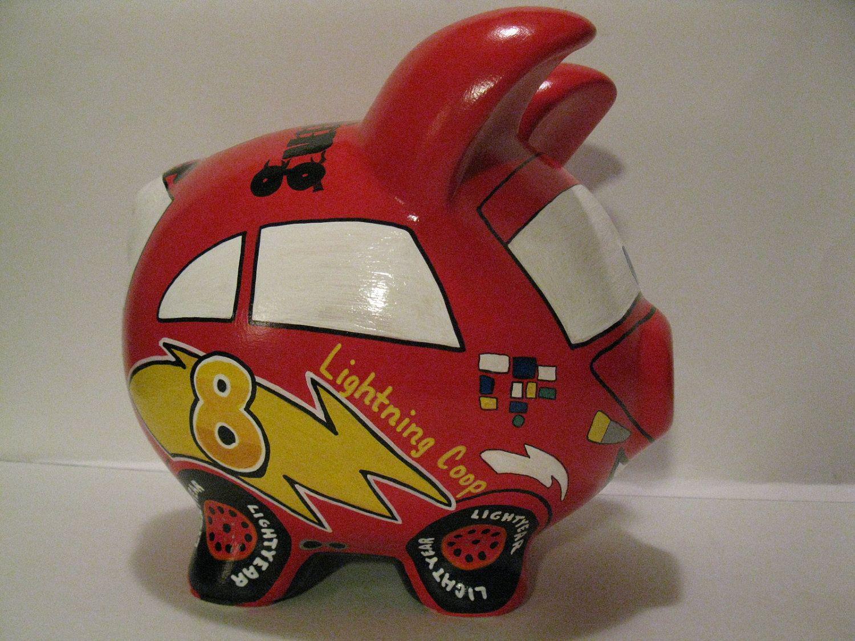 Race Car Piggy Bank Kids Personalized Piggy Banks