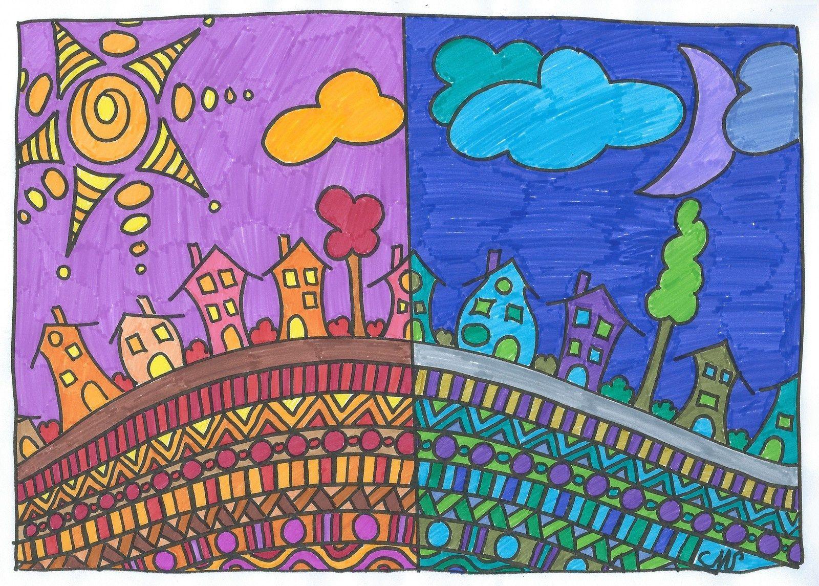 Arts visuels couleurs chaudes et couleurs froides  Couleurs chaudes Arts visuels et Froid