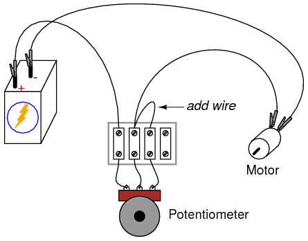 Potentiometer‬ is a three-terminal resistor with a sliding