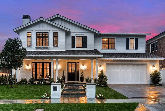 20 Amazing Transitional Outdoor Designs White Siding Exterior