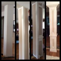 Do it yourself columns to divide living room and dining ...