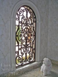 Faux Wrought Iron Arched Window Treatment | MyVirtual ...