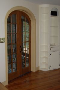 Interior French Doors With Arched Transom