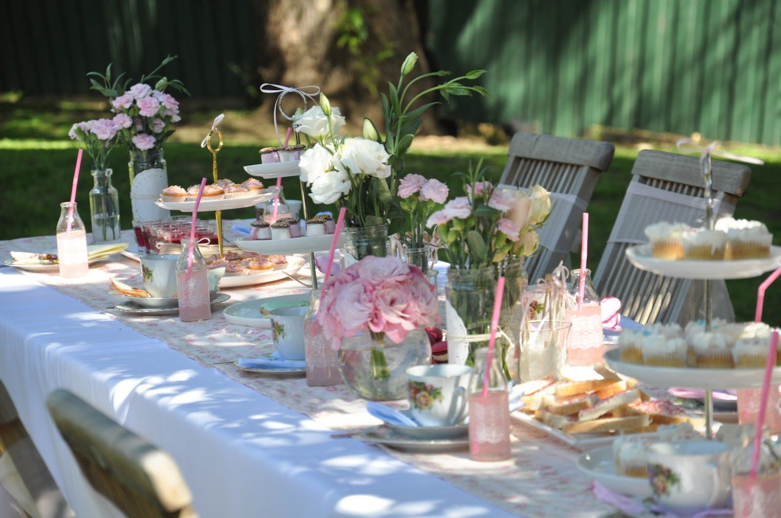 Tea Party Table Decoration Ideas Up The Party Had Two Parts The