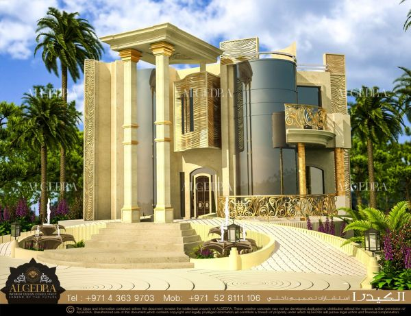 House Exterior Design In Dubai - Front