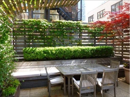 Holzterrassenmobel Pflanzen Fur Balkon Als Sichtschutz