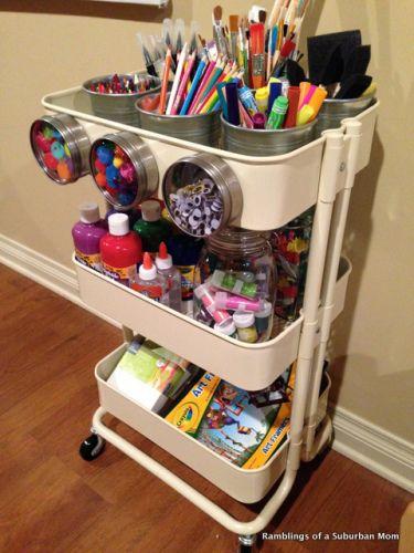 Storage Ideas  The Best Little Cart Ever  Raskog