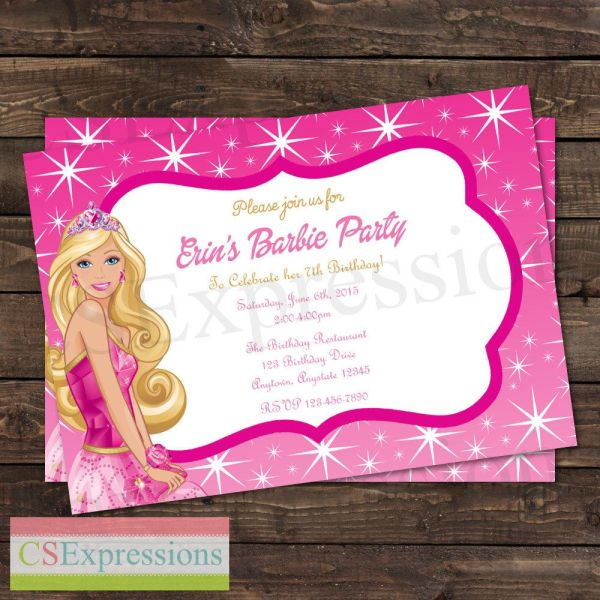 Barbie Birthday Invitation Csexpressions