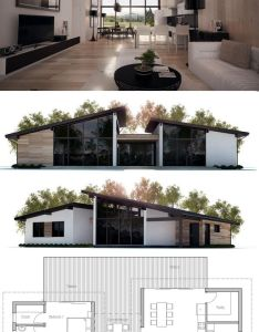 Modern house plan to merge with log cabin build ideas also ideia para  casa homes pinterest living rooms kitchens and room rh