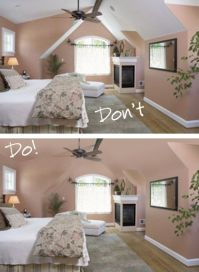 Couldn't find the ideas for slanted ceilings but saw some ...