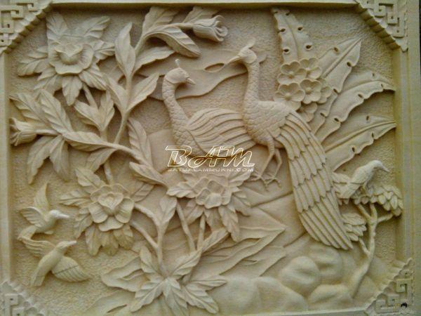 Balinese Stone Carving - Google 3d Mural Art Sculpture Painting