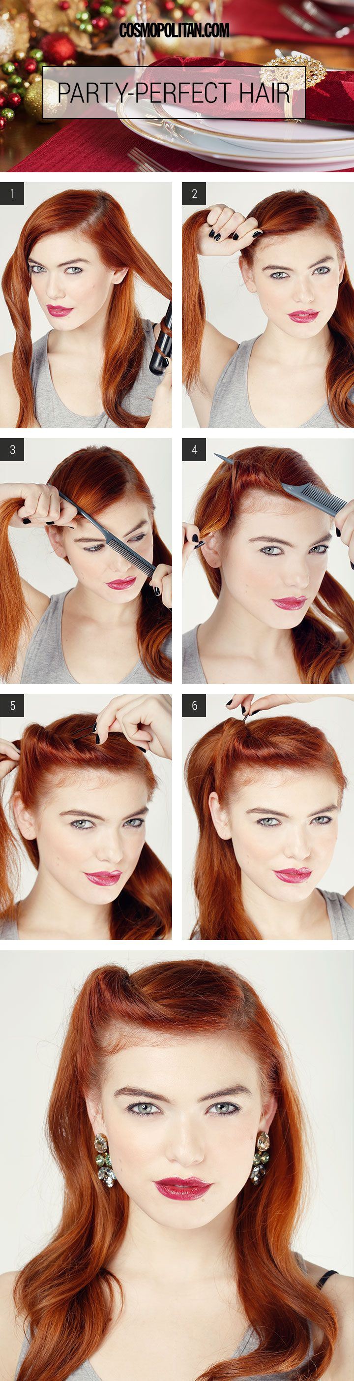 Hair How To Party Perfect Glam Roll Victory Rolls Tutorials