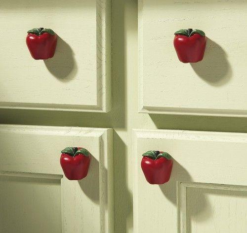kitchen utensil drawer organizer hansgrohe metro higharc faucet country apple decor pulls (set of 6) ~new ...
