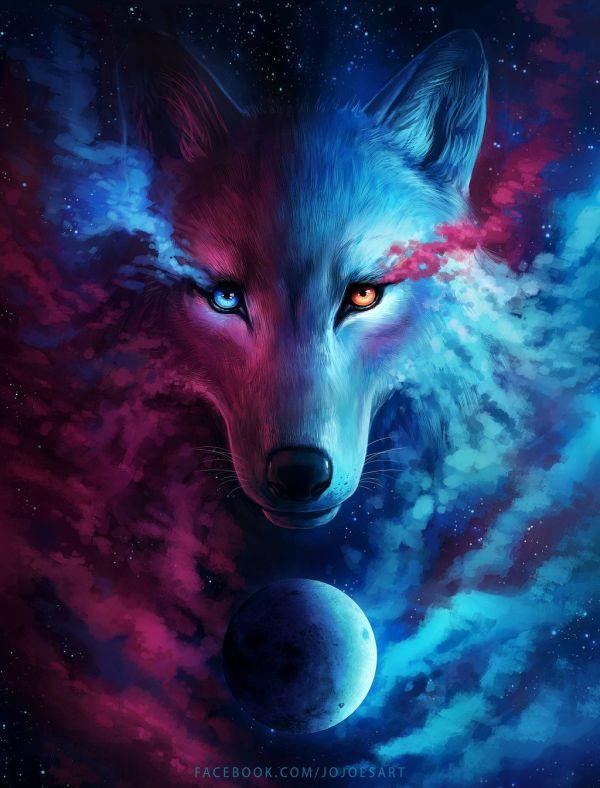 Anime Galaxy Wolf Wallpaper