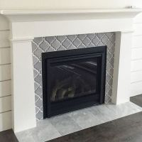 Artisan Arabesque Grigio Ceramic Wall Tile fireplace ...