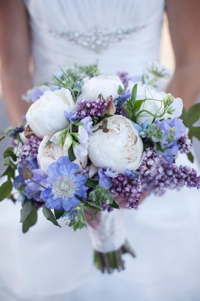 LilaBlumenstrau SchnittblumenIdeen moderne Hochzeit