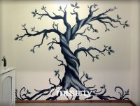 Gothic Tree Wall Mural - designed and painted | Inspiring ...