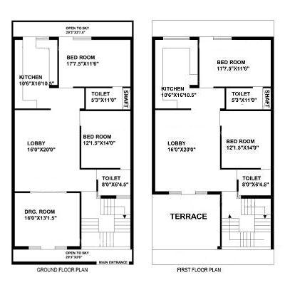 30 Feet By 60 Feet House Map Home Pinterest Plans De Maison