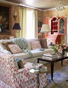 The living room gets used daily and was inspired by  design that iconic decorator elsie also rh pinterest