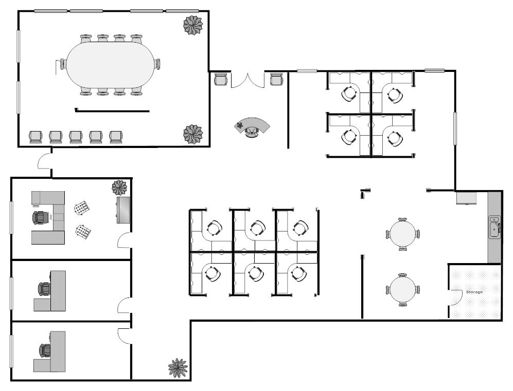 Visio Office Floor Plan Template