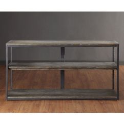 Renate Gray Sofa Table Flat Pack Beds Cheap Media Console Brown Couch Tables