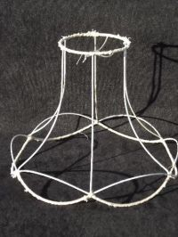 vintage wire lamp shade frame for bell shape old Victorian