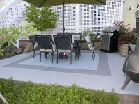 Painted concrete patio | My Garden | Pinterest | Paint ...